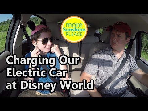 Electric Vehicle Charging Stations at Disney World