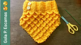 Aprenda a fazer uma maravilhosa gola em tricô