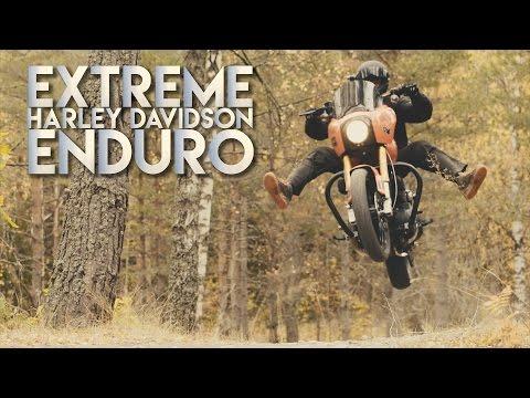 Crazy HD-Enduro | 320kg heavy Harley Davidson in forest | 4K