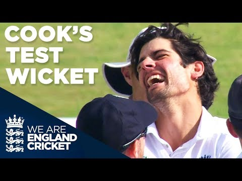 Alastair Cook's First (And Only) Test Wicket | England v India 2014 - Highlights