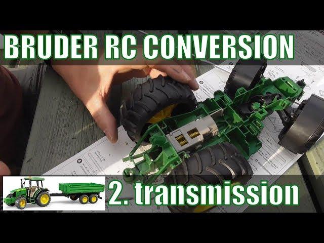 Bruder Tractor RC conversion pt2 : transmission