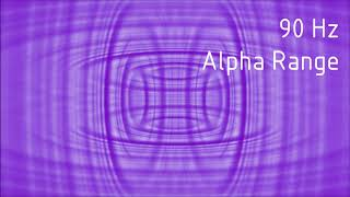 Pure 90 Hz Alpha Range Binaural Beats [30 min]