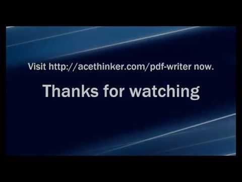 Edit PDF with AceThinker PDF Writer
