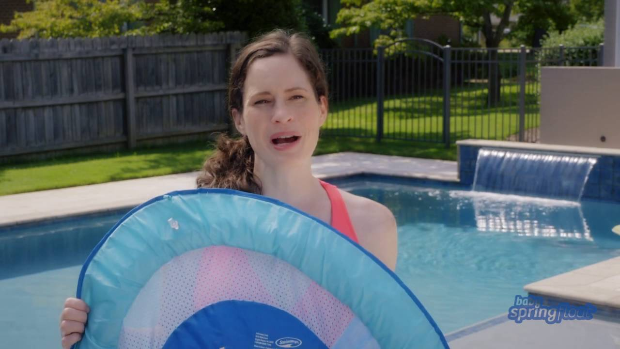 How to Inflate, Deflate, and Fold the Baby Spring Float - YouTube