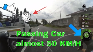 Road Bike Passing Car (Fail) Gagal Nyalip Mobil | Test Render Vegas Pro 14.0 1080p 60fps