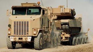 Мегамашины - Самый крупный в мире танковый тягач Oshkosh M1070