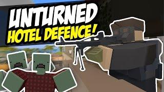 HOTEL DEFENCE - Unturned Survival (Horde Beacon)