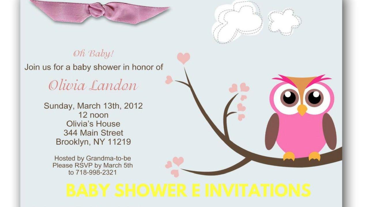 Baby Shower E Invitations - YouTube