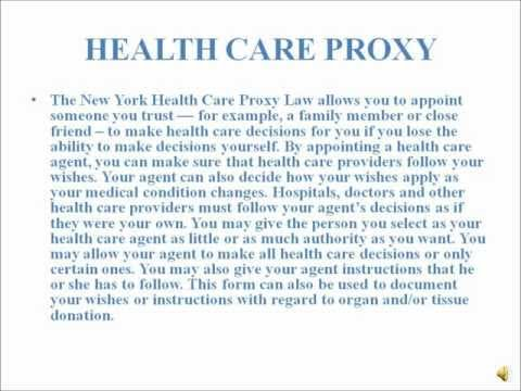 New York Healthcare Proxy FAQ