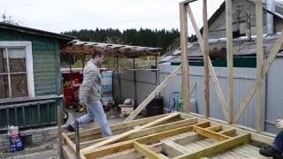 Как построить сарай своими руками с односкатной крышей: поэтапное видео
