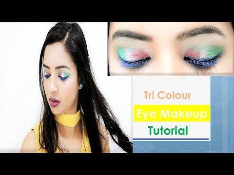 Tri Colour Eye Makeup | India's Republic Day Makeup | Makeup Topics