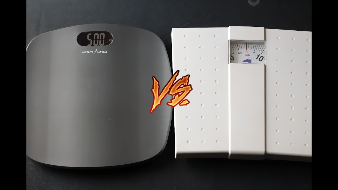 Digital Vs Analog Bathroom Scales YouTube - Digital vs analog bathroom scale