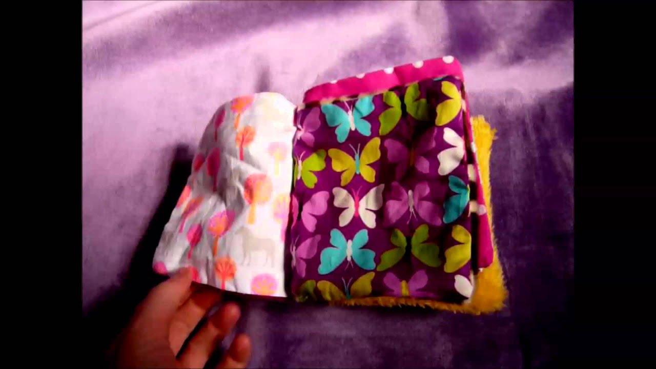 faite vous m me votre 1er petit livre en tissu pour b b youtube. Black Bedroom Furniture Sets. Home Design Ideas