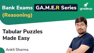 YT GA.M.E.R Series: Tabluar Puzzles Made Easy (Reasoning)