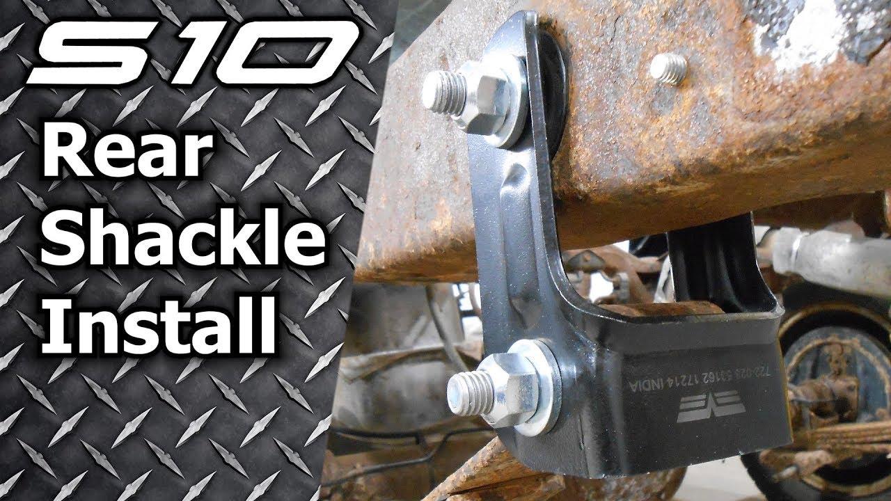 S10 Sonoma Blazer Rear Shackle Install - YouTube