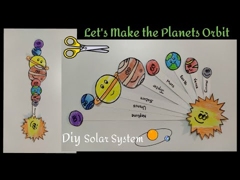 Solar System DIY (Planets orbiting the sun) Paper craft for kids