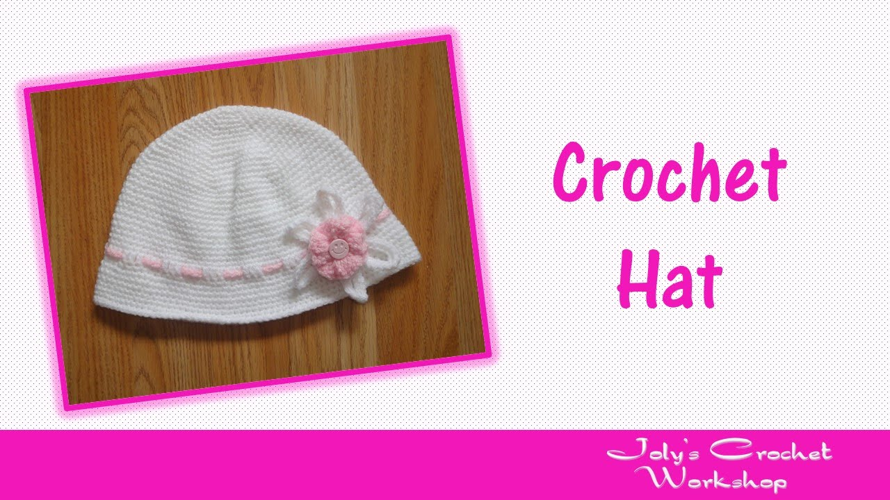 9f74d05558b Crochet summer hat with flower for girls - YouTube