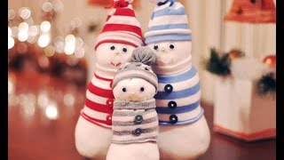 Как сделать снеговика из обычных носков