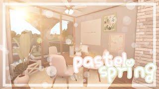 ʚbloxburgɞ  pastel spring home, no gamepasses ꒰47k꒱🍈🍋