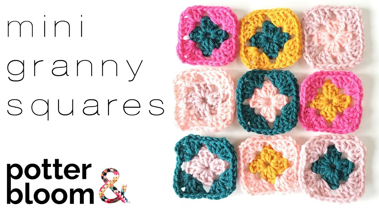 How to crochet a mini granny square free pattern youtube bankloansurffo Images