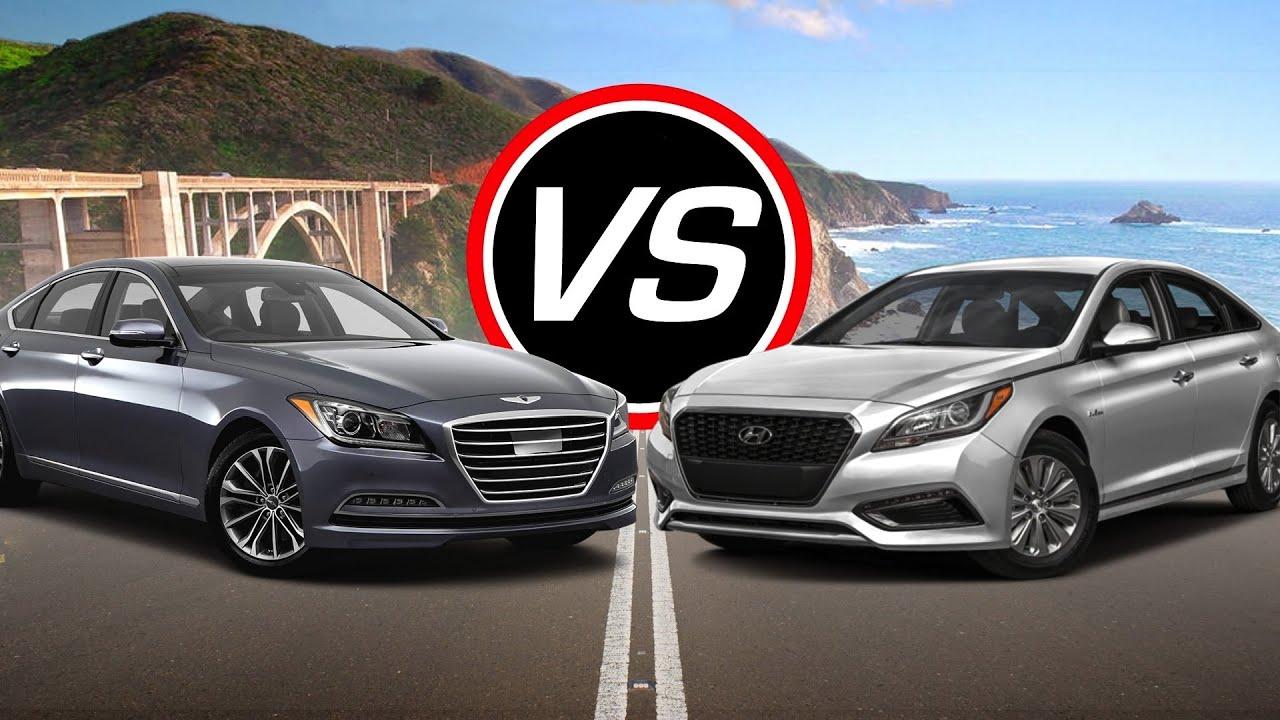 2016 Hyundai Genesis V6 Vs Sonata Hybrid Spec Comparison