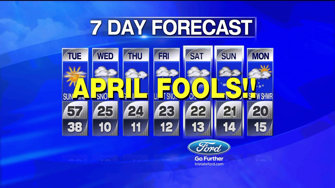 april fool s tv weather anchor pranked with fake 7 day forecast