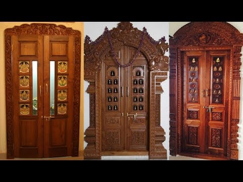 Pooja Room Doors// Wooden Door Frame And Door Designs - YouTube