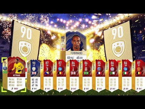 Prime Ferdinand & Inform 94 Neymar In A Pack! Icon + 44 Reds! Top 100 Monthly Fifa 18 Ultimate Team