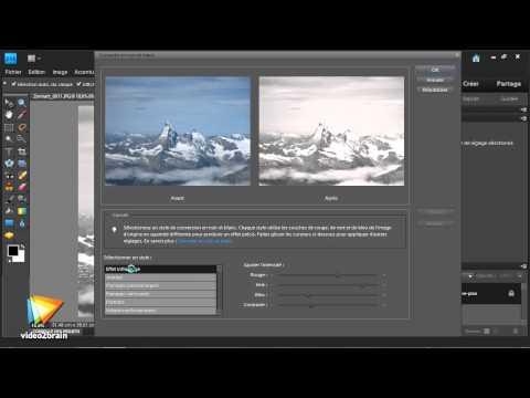 Adobe Photoshop Elements 9 : La conversion en noir et blanc
