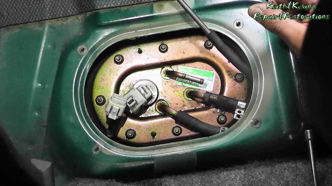 medium resolution of how to diagnose a bad fuel pump 1996 subaru legacy 2 2l pt 3 remove fuel pump assembly
