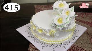 chocolate cake decorating bettercreme vanilla (415) Học Làm Bánh Kem Đơn Giản Đẹp - Vàng Chanh (415)