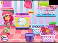 Strawberry Shortcake Washing Clothes Video Game for Girls Kids Game - 游戏视频