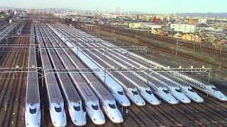 【車窓展望】新幹線鳥飼車両基地 大阪モノレール車窓から