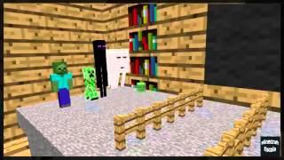 Minecraft Escola Monstro #08 : Aprender Pintura - Minecraft Animação Engraçado 2016