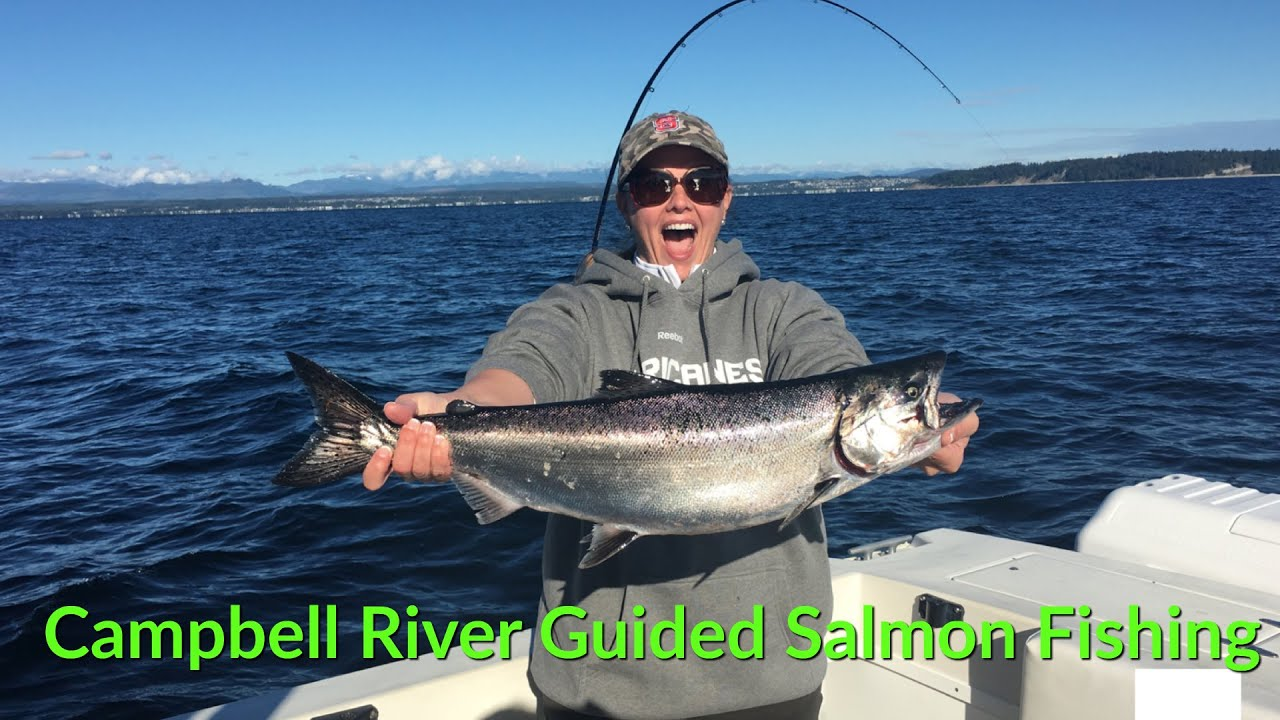 Campbell river salmon fishing charters youtube for Campbell river fishing