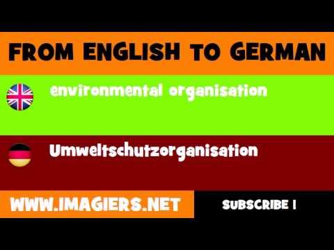 FROM ENGLISH TO GERMAN = environmental organisation