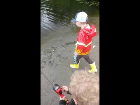 Oliver's first fish!! 2years old