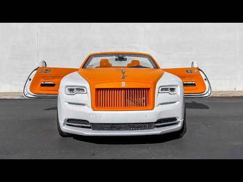 Orange Inside Out Two Tone $400,000 Rolls Royce Dawn, How to change a Bugatti Battery.