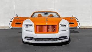 Orange Inside Out Two Tone $400,000 Rolls Royce Dawn, How to change a Bugatti Battery.