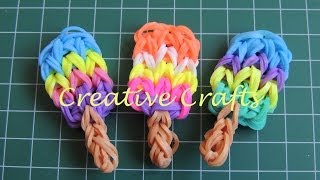 Repeat youtube video Como hacer un helado de gomitas. How to make Rainbow Loom  Ice Cream.