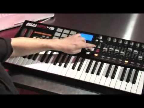 akai mpk49 49 key midi controller keyboard youtube. Black Bedroom Furniture Sets. Home Design Ideas