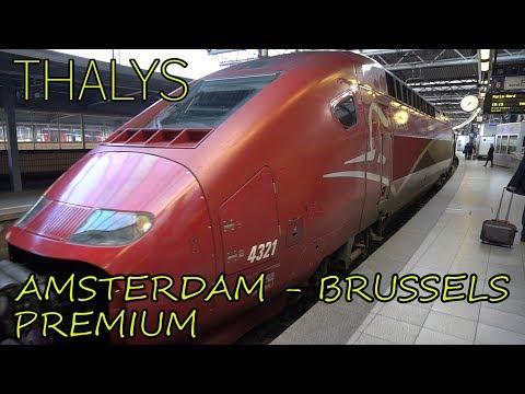 Thalys PREMIUM FIRST CLASS   European High-Speed Train   Amsterdam - Brussels