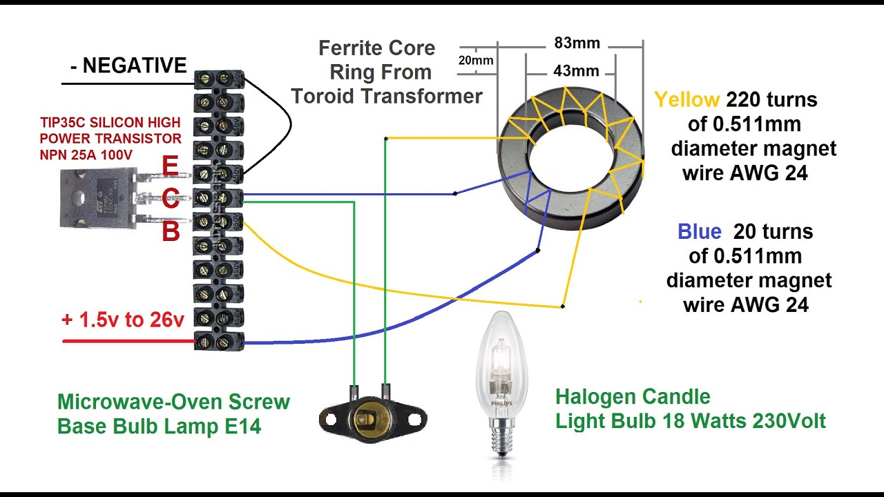 Toroidal Transformer Wiring Diagram : Toroidal transformer circuit diagram wire