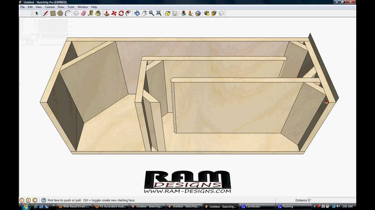 Line Art Box Design : Ram designs t line box design for rockford fosgate