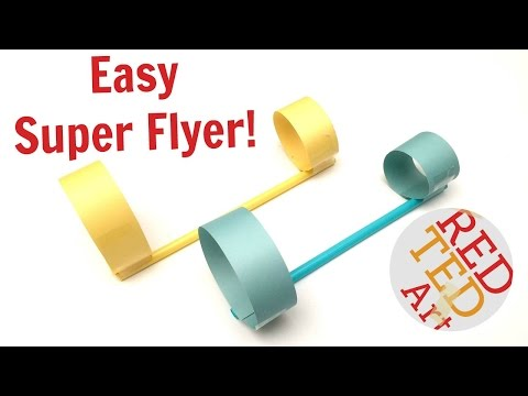 #1 BEST Paper Plane - Circle Paper & Straws Airplane - DIY Paper Toys (S.T.E.M.)