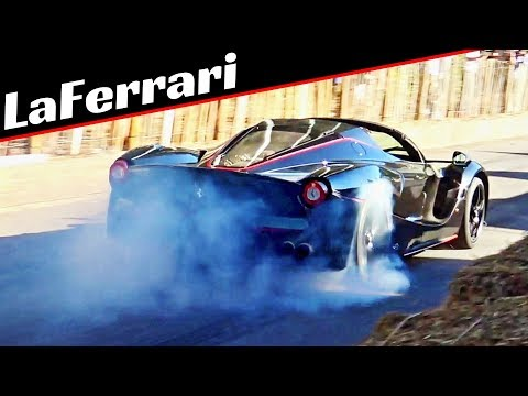 Ferrari LaFerrari Aperta - 800hp V12 Engine + KERS - Exclusive Hypercar in Action & Massive Burnouts