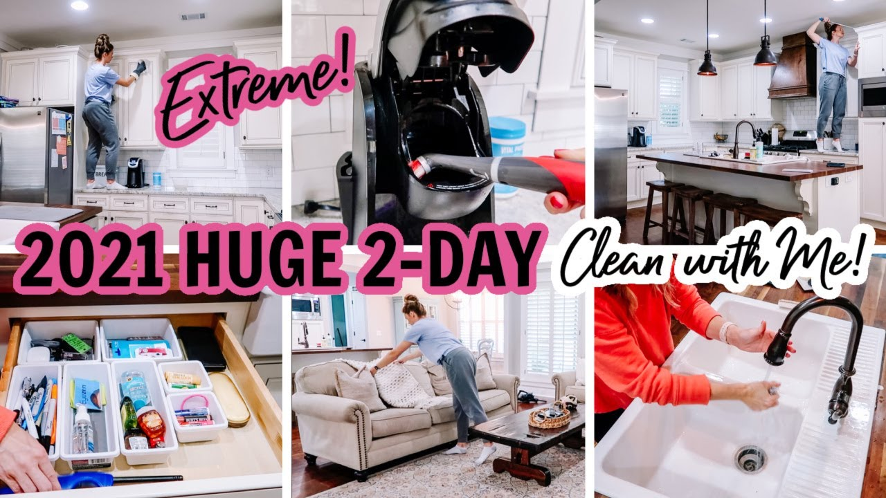 2021 HUGE 2-DAY CLEAN WITH ME | EXTREME CLEANING MOTIVATION | CLEANING ROUTINE | Amy Darley