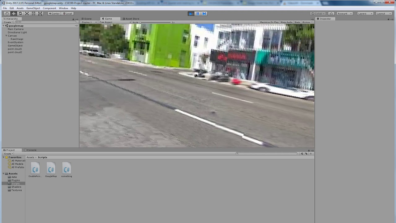 Google Street View Point Cloud Viewer in VR