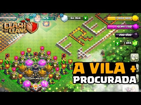 A VILA MAIS PROCURADA DO CLASH OF CLANS!