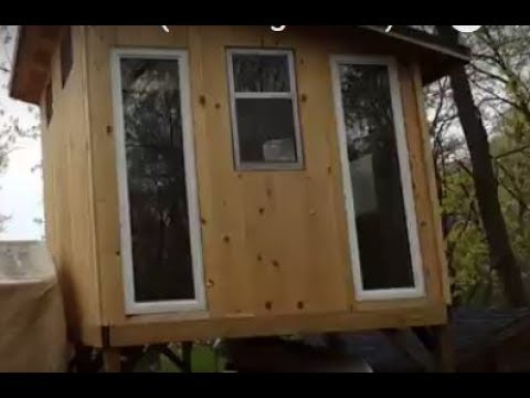 Treehouse on Stilts with Loft (building ideas!)